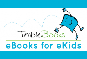 tumblebooks logo with text ebooks for ekids