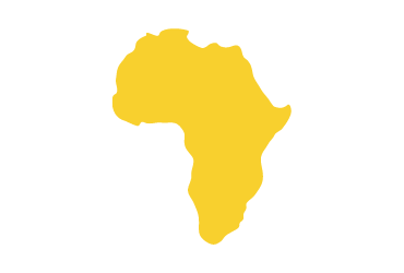 yellow outline of africa