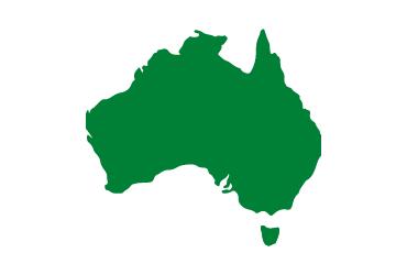 green outline of australia