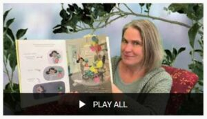 screenshot of woman reading a picture book on youtube