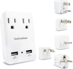 Dual Outlet Power Adapter